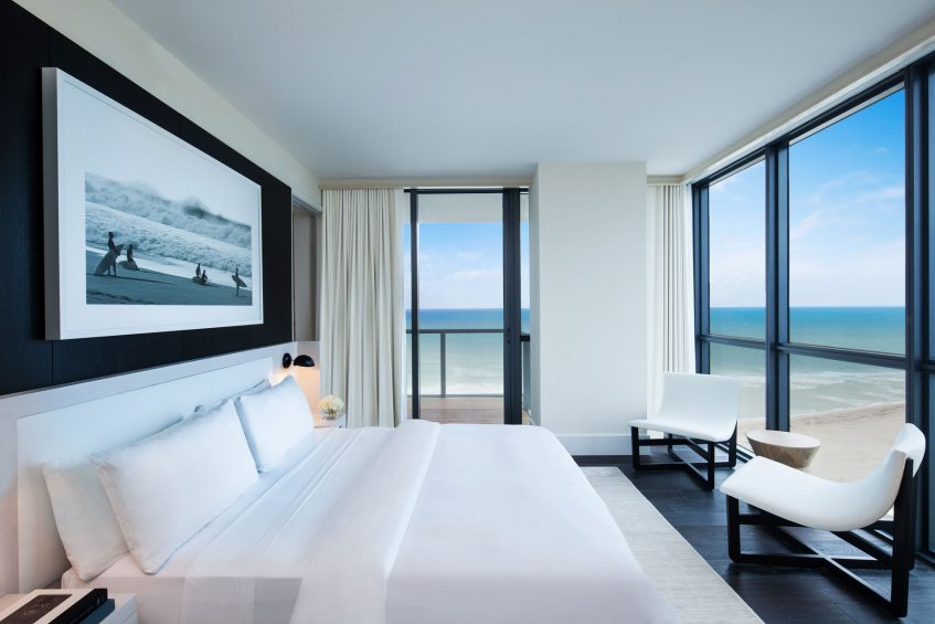 W South Beach Luxury Hotel - Miami Beach, FL, USA - E WOW 3 Bedroom Oceanfront Suite View