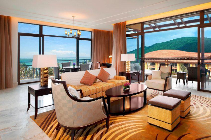 The St. Regis Sanya Yalong Bay Luxury Resort - Hainan, China - One Bedroom Ocean Suite Living Room