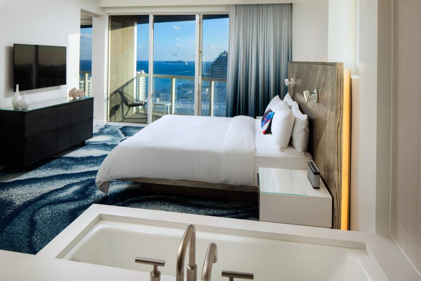 W Fort Lauderdale Luxury Hotel - Fort Lauderdale, FL, USA - Spectacular 1 Bedroom Residential Suite Bedroom
