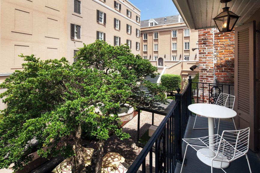 W New Orleans French Quarter Luxury Hotel - New Orleans, LA, USA - Studio Suite Balcony