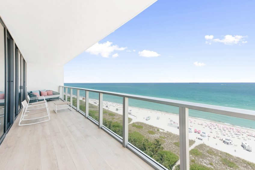 W South Beach Luxury Hotel - Miami Beach, FL, USA - E WOW Three Bedroom Suite Balcony