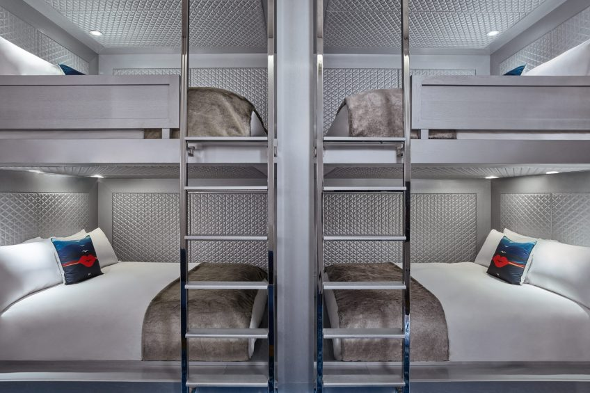 W Aspen Luxury Hotel - Aspen, CO, USA - Stacked Quad Queen Bunk Guest Room