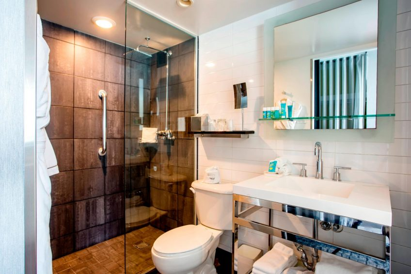 W Chicago Lakeshore Luxury Hotel - Chicago, IL, USA - Spectacular Accessible Guest Bathroom