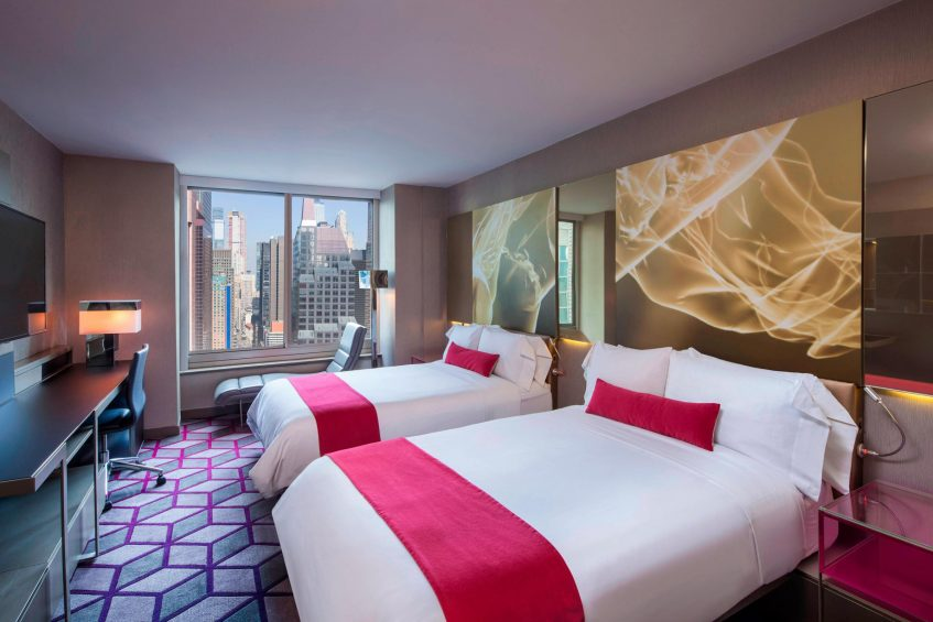 W New York Times Square Luxury Hotel - New York, NY, USA - Spectacular Double Guest Room