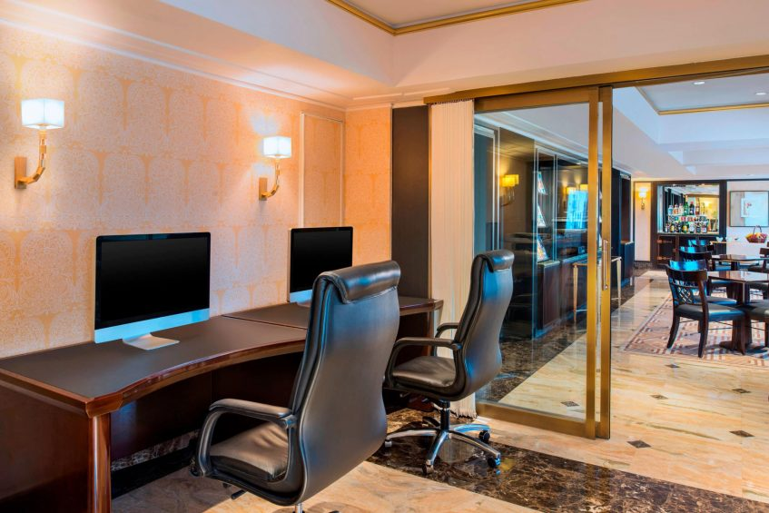 The St. Regis Beijing Luxury Hotel - Beijing, China - Business Lounge Working Area