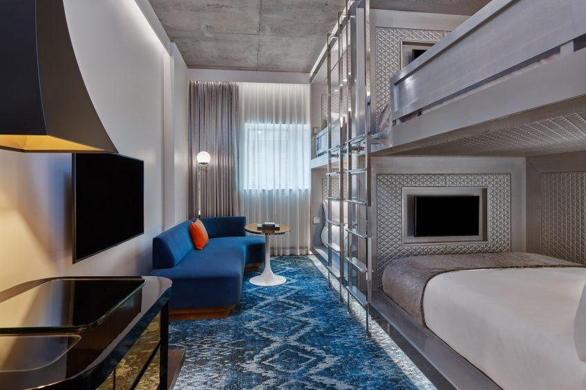 W Aspen Luxury Hotel - Aspen, CO, USA - Stacked Quad Queen Bunk Room