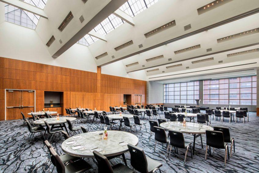 W Hoboken Luxury Hotel - Hoboken, NJ, USA - Great Room Banquet Setup