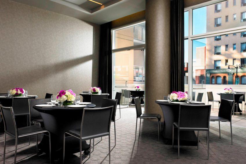 W Hollywood Luxury Hotel - Hollywood, CA, USA - Studio 3 Banquet Setup