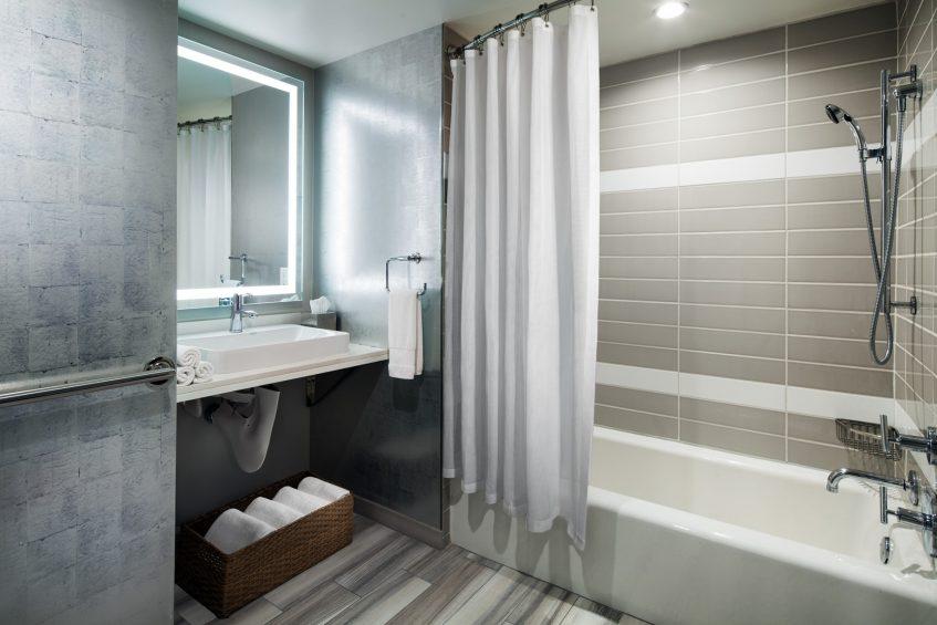W Los Angeles West Beverly Hills Luxury Hotel - Los Angeles, CA, USA - Wonderful Studio Accessible Guest Bathroom