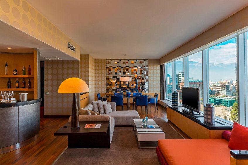 W Santiago Luxury Hotel - Santiago, Chile - Wow Suite Living Room And Mini Bar