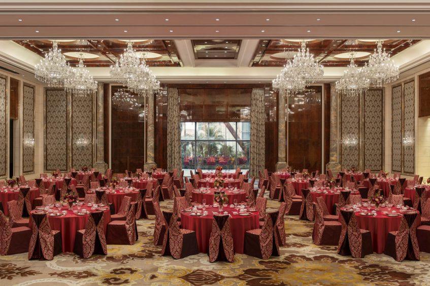 The St. Regis Zhuhai Luxury Hotel - Zhuhai, Guangdong, China - Astor Ballroom Round Tables