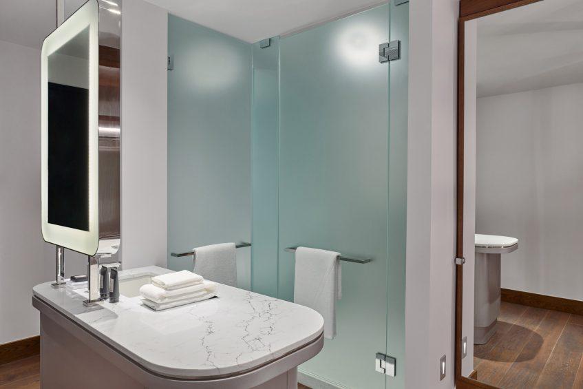 W Aspen Luxury Hotel - Aspen, CO, USA - Stacked Queen Bunk Bathroom