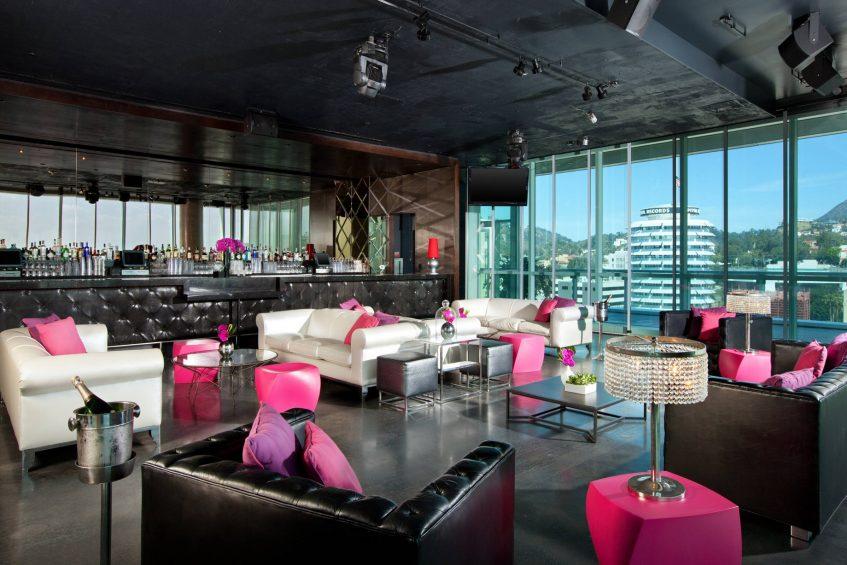 W Hollywood Luxury Hotel - Hollywood, CA, USA - The Loft Cocktail Setup