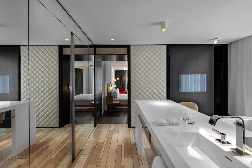 W London Luxury Hotel - London, United Kingdom - Suite Bathroom Sleek Style