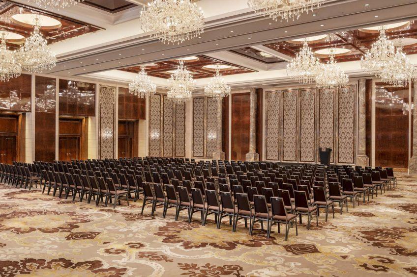 The St. Regis Zhuhai Luxury Hotel - Zhuhai, Guangdong, China - Astor Ballroom Theater Set Up