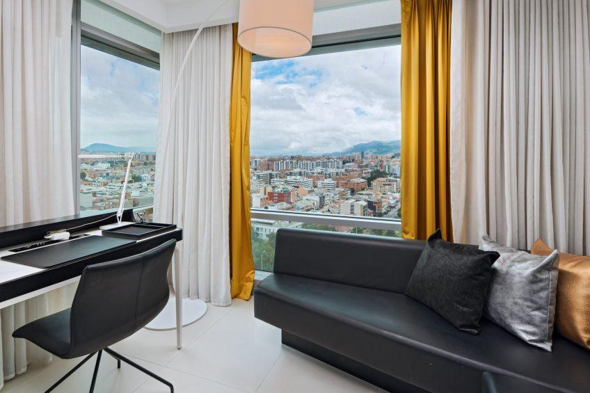 W Bogota Luxury Hotel - Bogota, Colombia - Cool Corner Suite Living Area