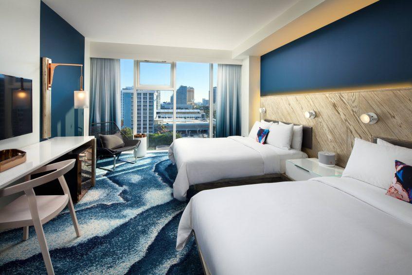 W Fort Lauderdale Luxury Hotel - Fort Lauderdale, FL, USA - Wonderful Queen Guest Room