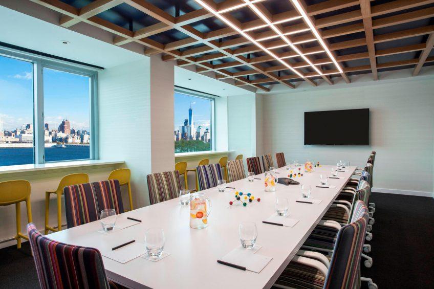 W Hoboken Luxury Hotel - Hoboken, NJ, USA - Strategy Room Conference Setup