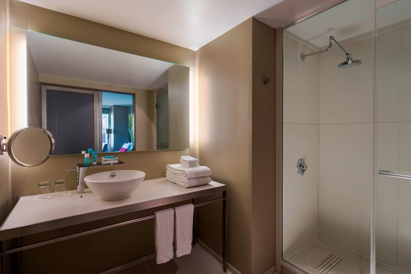 W New York Times Square Luxury Hotel - New York, NY, USA - Suite Bathroom