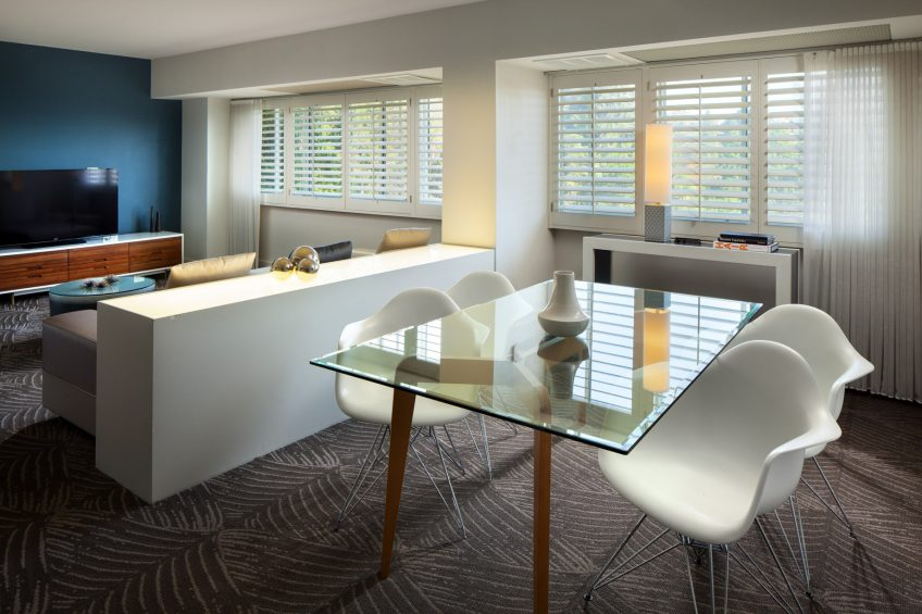 W Los Angeles West Beverly Hills Luxury Hotel - Los Angeles, CA, USA - WOW Suite Dining Table