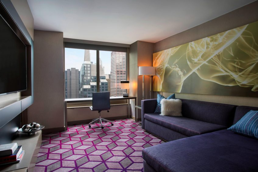 W New York Times Square Luxury Hotel - New York, NY, USA - Suite Sofabed Closed