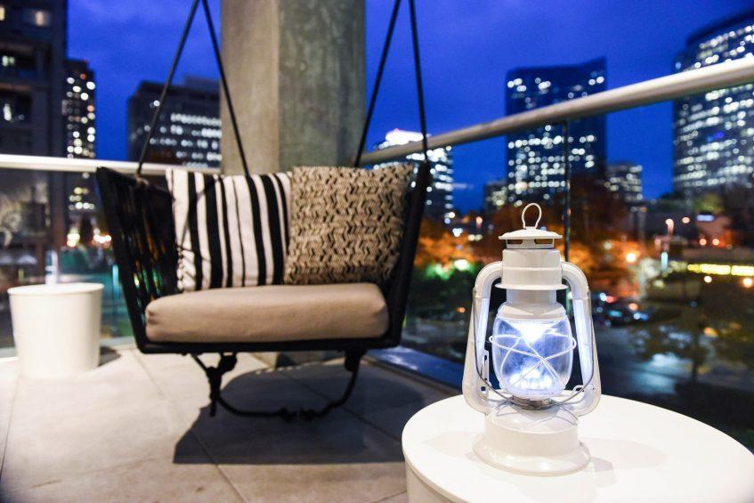 W Bellevue Luxury Hotel - Bellevue, WA, USA - Downtown Bellevue View Off The Porch