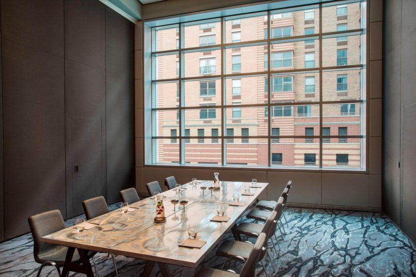 W Hoboken Luxury Hotel - Hoboken, NJ, USA - Studio 4 Conference Setup
