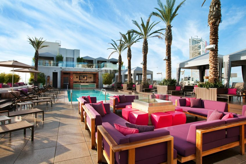 W Hollywood Luxury Hotel - Hollywood, CA, USA - WET Deck Seating