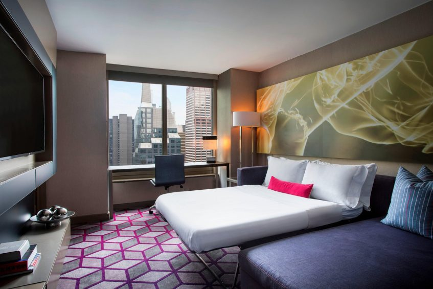 W New York Times Square Luxury Hotel - New York, NY, USA - Suite Sofabed Open