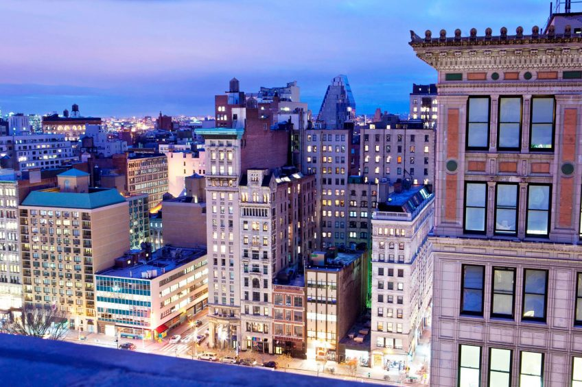 W New York Union Square Luxury Hotel - New York, NY, USA - West View Cityscape