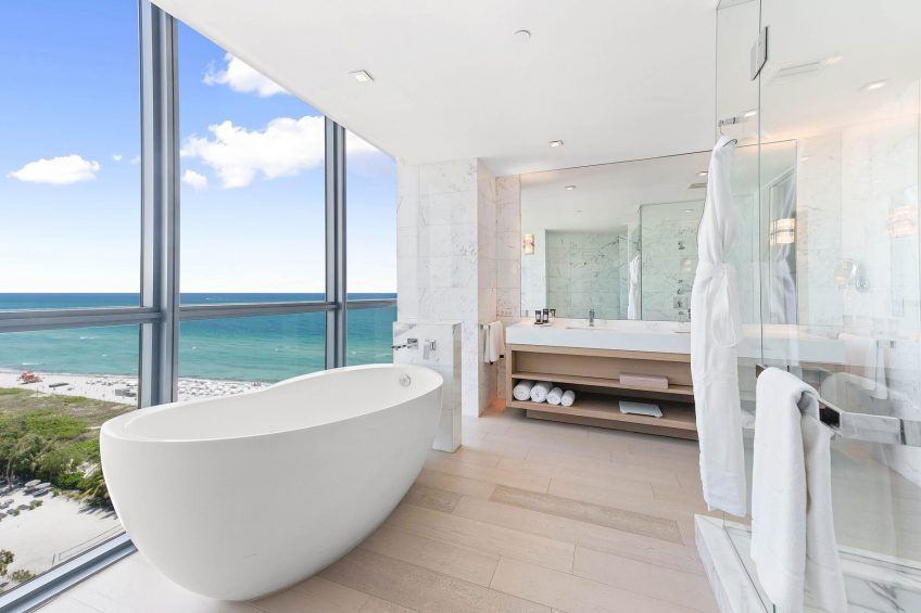 W South Beach Luxury Hotel - Miami Beach, FL, USA - E Wow Oceafront Suite Master Bathroom