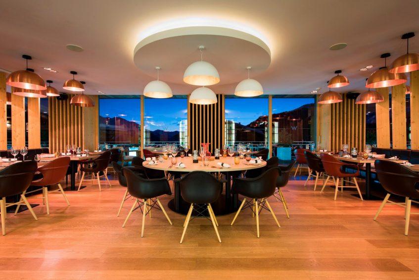 W Verbier Luxury Hotel - Verbier, Switzerland - W Kitchen Rounf Table