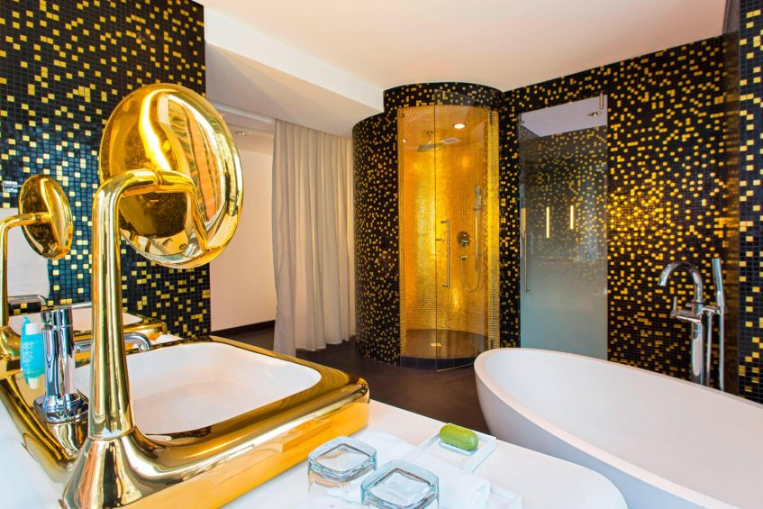 W Bogota Luxury Hotel - Bogota, Colombia - Extreme Wow King Suite Bathroom