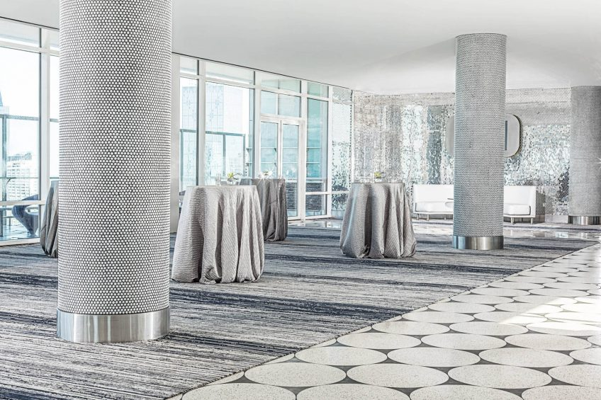 W Dallas Victory Luxury Hotel - Dallas, TX, USA - Altitude Silver Reception Setup