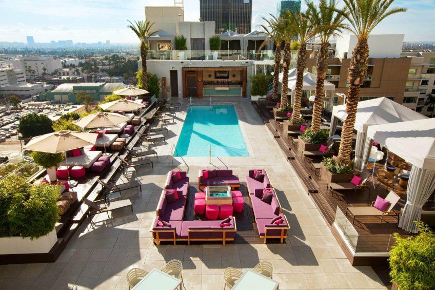 W Hollywood Luxury Hotel - Hollywood, CA, USA - WET Deck