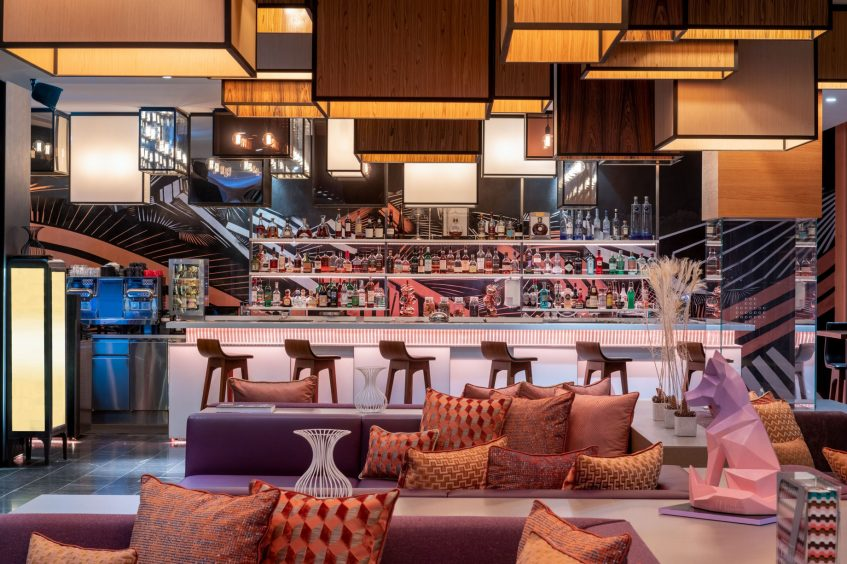 W Verbier Luxury Hotel - Verbier, Switzerland - W Living Room Bar