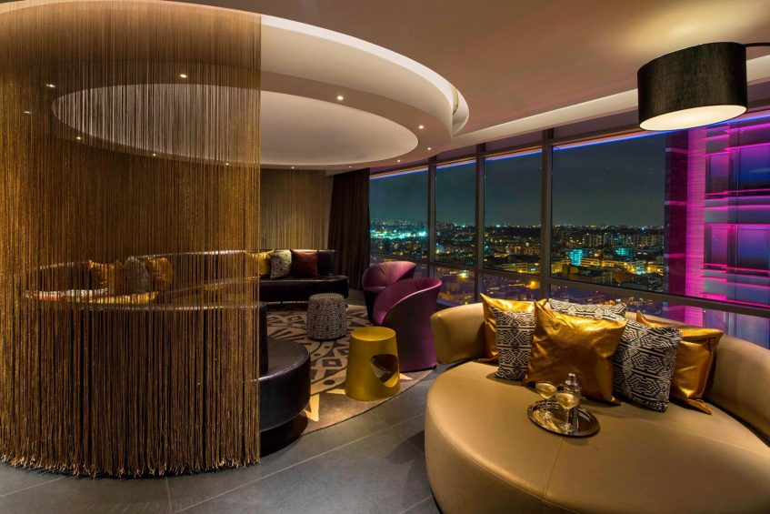 W Bogota Luxury Hotel - Bogota, Colombia - Extreme Wow King Suite Living Room