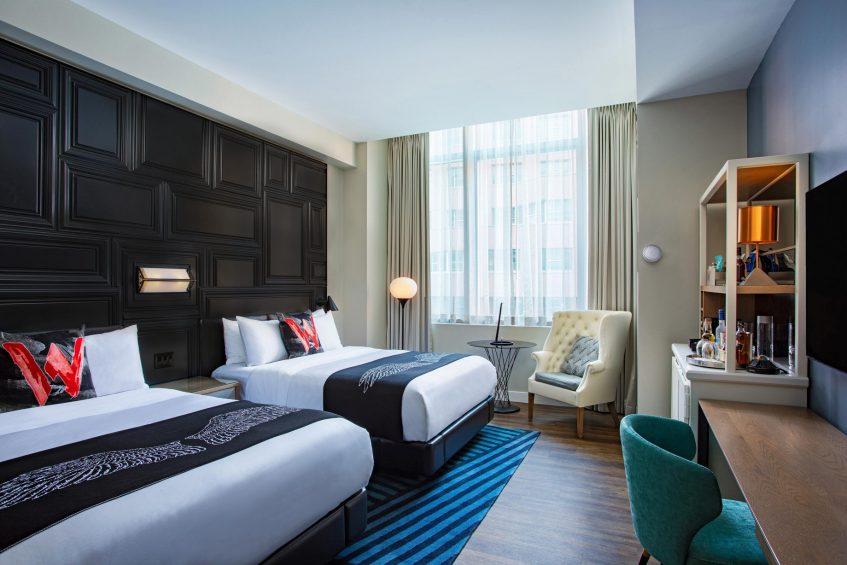 W Boston Luxury Hotel - Boston, MA, USA - Fabulous Guest Room Double Beds