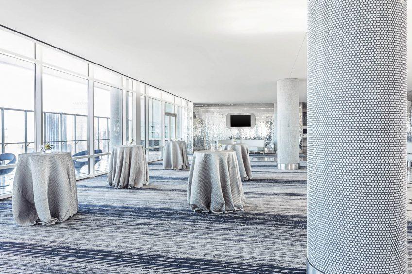 W Dallas Victory Luxury Hotel - Dallas, TX, USA - Altitude Room Reception Setup