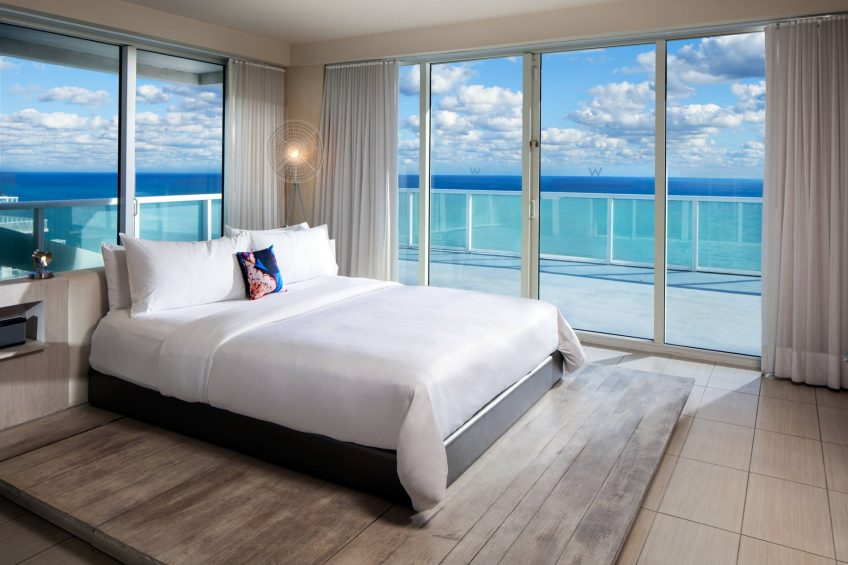 W Fort Lauderdale Luxury Hotel - Fort Lauderdale, FL, USA - Extreme Wow Suite Bedroom