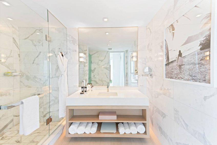 W South Beach Luxury Hotel - Miami Beach, FL, USA - E Wow Suite Bathroom