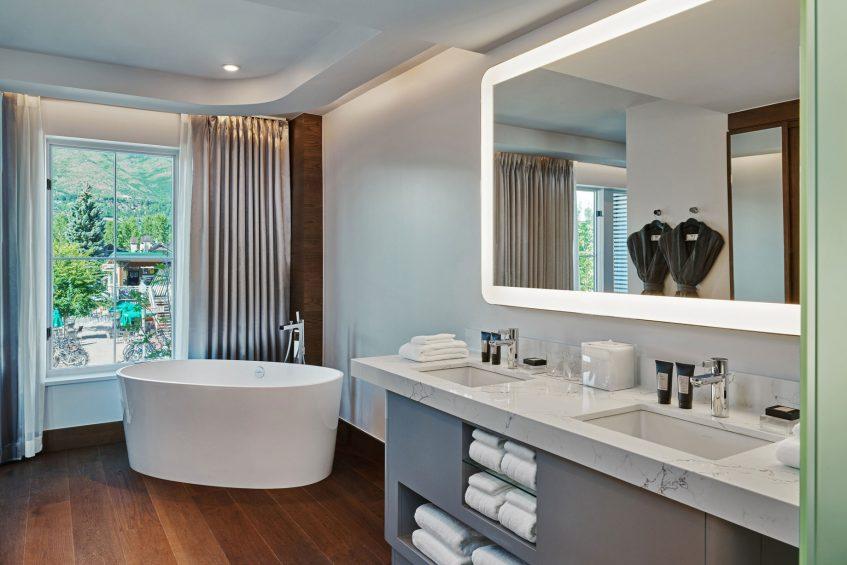 W Aspen Luxury Hotel - Aspen, CO, USA - Wow Suite Guest Bathroom Tub