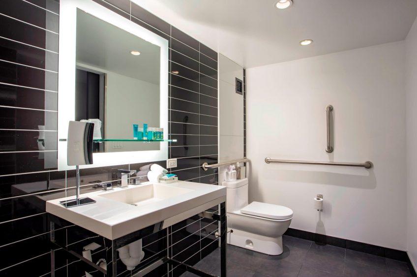 W Chicago Lakeshore Luxury Hotel - Chicago, IL, USA - Wonderful Accessible Bathroom