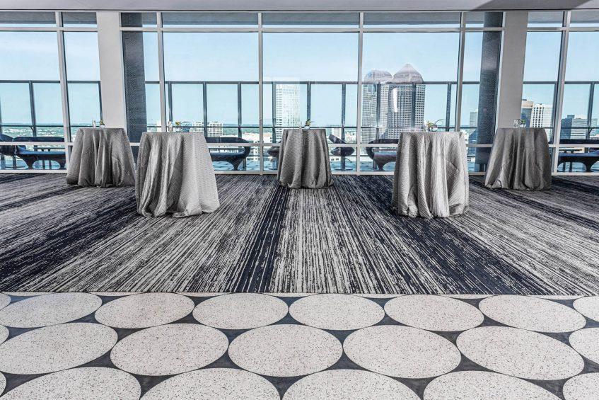 W Dallas Victory Luxury Hotel - Dallas, TX, USA - Altitude Room Reception Setup View