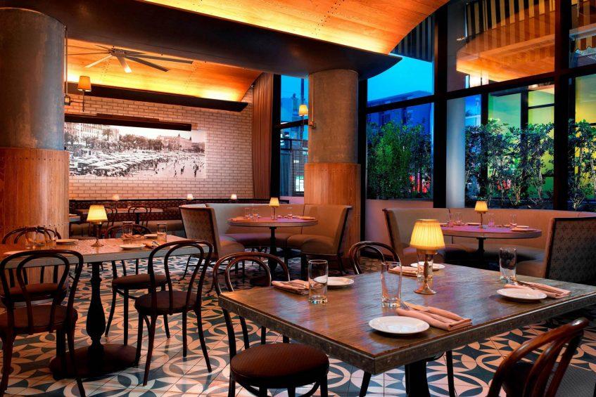 W Hollywood Luxury Hotel - Hollywood, CA, USA - Delphine Eatery & Bar
