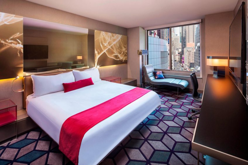 W New York Times Square Luxury Hotel - New York, NY, USA - Wonderful King Guest Room