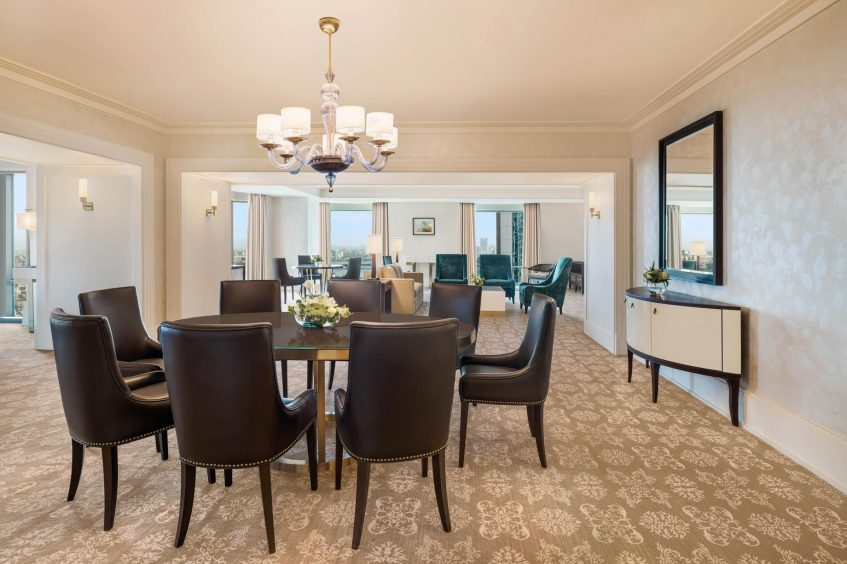 The St. Regis Cairo Luxury Hotel - Cairo, Egypt - Apartment Living Room Table
