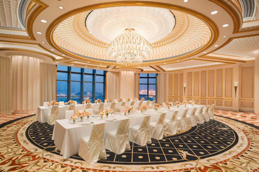 The St. Regis Zhuhai Luxury Hotel - Zhuhai, Guangdong, China - The St. Regis Roof Long Table Setup