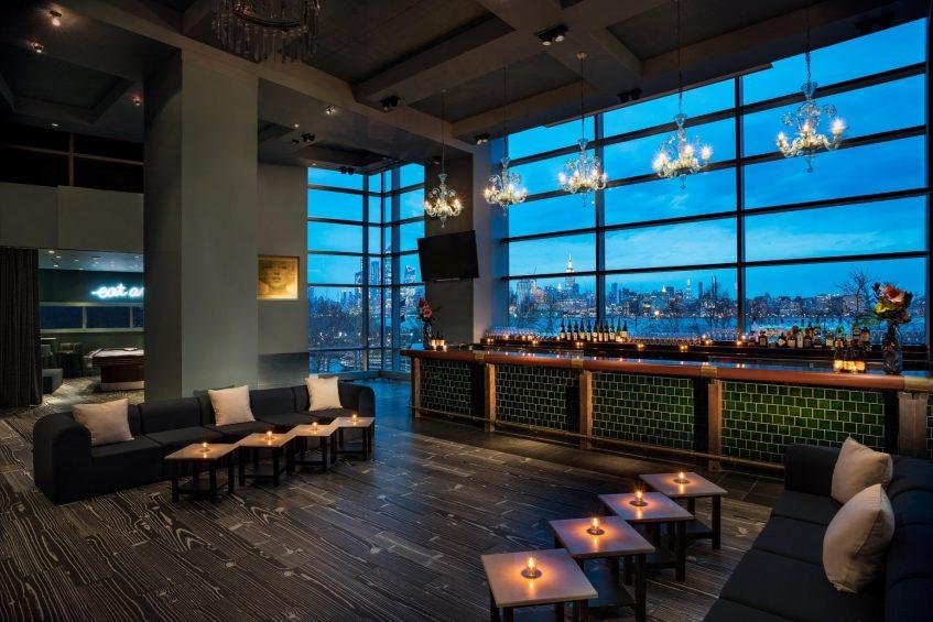 W Hoboken Luxury Hotel - Hoboken, NJ, USA - LULU Night View