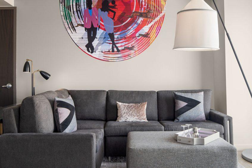 W Scottsdale Luxury Hotel - Scottsdale, AZ, USA - Studio Suite Living Area